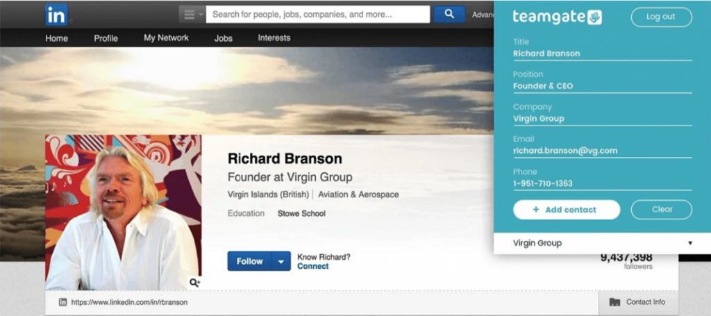 Teamgate LinkedIn Shuttle