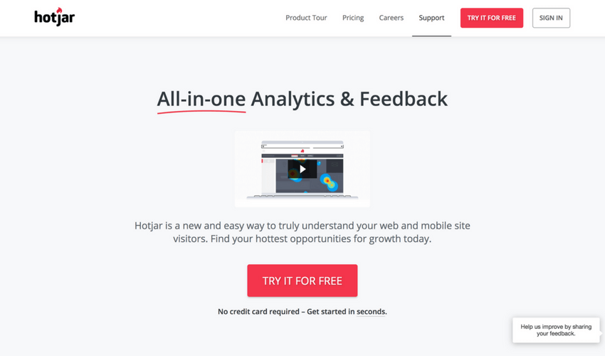 Inbound Marketing Tools Hotjar