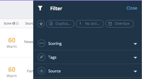 Filters and Sorting