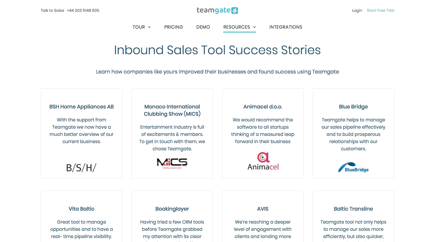 customer review teamgate case studies