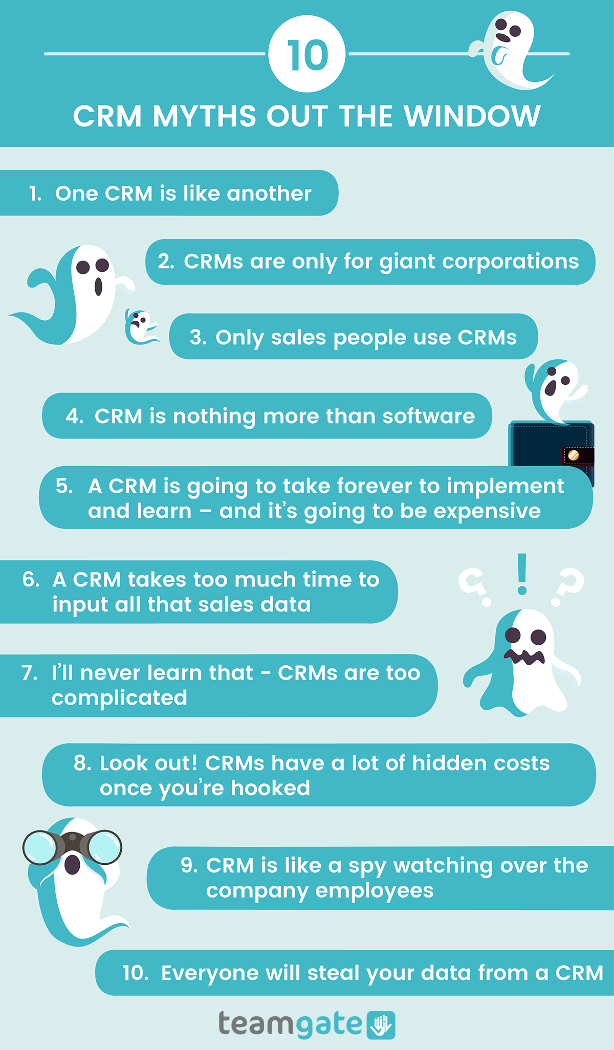 CRM Myths Debunked INfographic by Teamgate