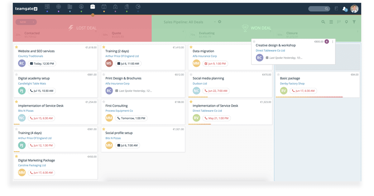 Salesforce Alternatives - Teamgate
