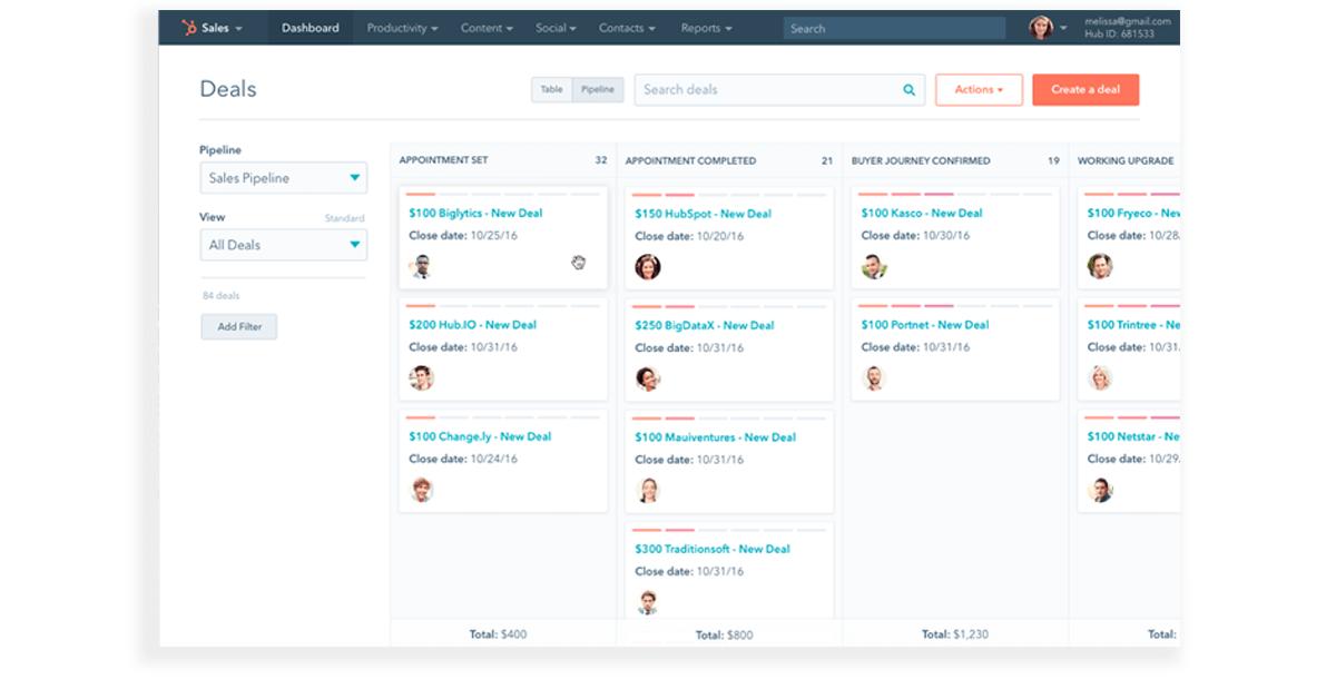 Salesforce Alternatives - Hubspot