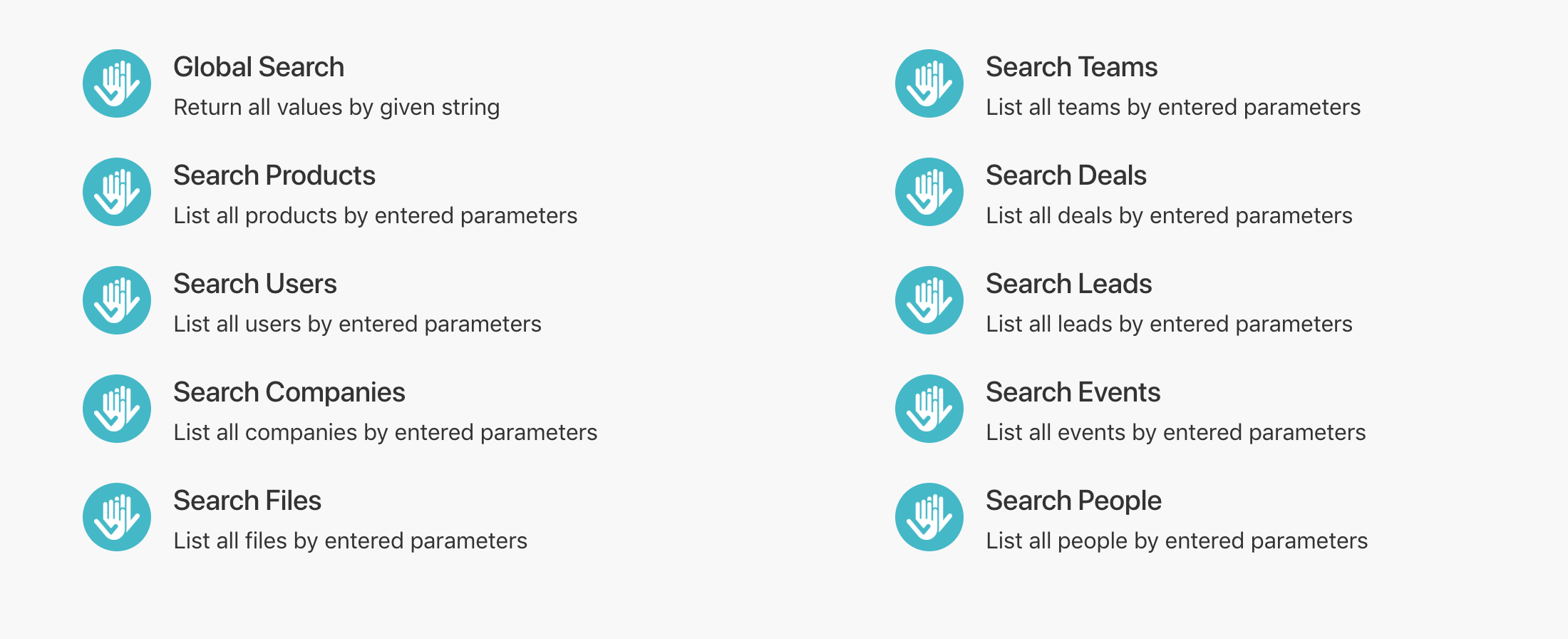 Integromat Searches